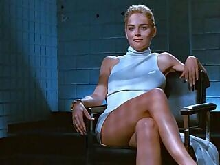 Sharon Stone Crossing Legs