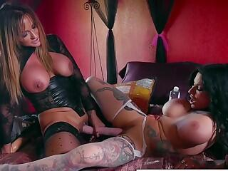 Great Lesbian Action With Toys And Two Pairs Of Giant Titties